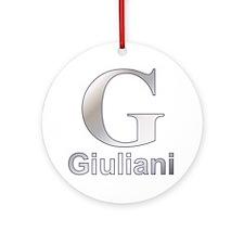 Silver G for Giuliani Ornament (Round)