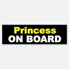Princess On Board Bumper Bumper Bumper Sticker
