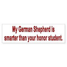 German Shepherd is smarter Bumper Car Sticker