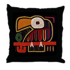 Indigenous Panama Bird Art Throw Pillow