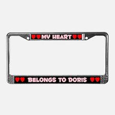 My Heart: Doris (#002) License Plate Frame