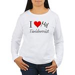 I Heart My Taxidermist Women's Long Sleeve T-Shirt