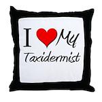 I Heart My Taxidermist Throw Pillow
