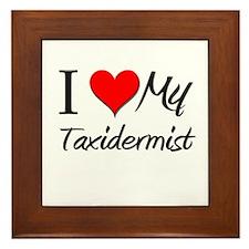 I Heart My Taxidermist Framed Tile