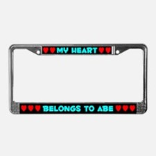My Heart: Abe (#003) License Plate Frame
