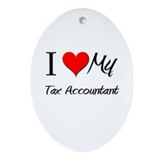 I Heart My Tax Accountant Oval Ornament