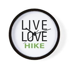Live Love Hike Wall Clock