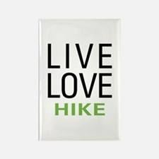 Live Love Hike Rectangle Magnet
