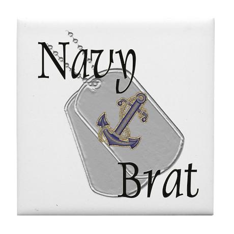Anchor Navy Brat Tile Coaster