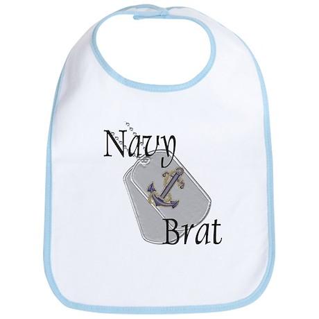 Anchor Navy Brat Bib