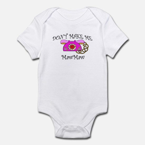 Call MawMaw with Pink Phone Infant Bodysuit