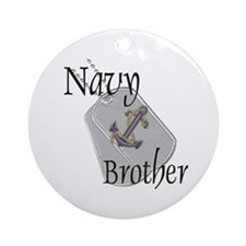 Anchor Navy Brother Ornament (Round)
