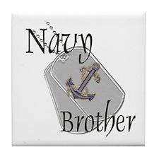 Anchor Navy Brother Tile Coaster