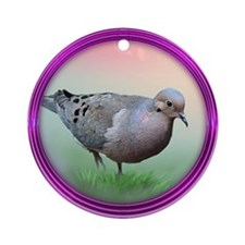 Mourning Dove Ornament (Round)