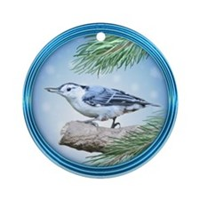 Nuthatch Ornament (Round)