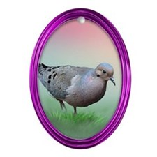 Mourning Dove Oval Ornament