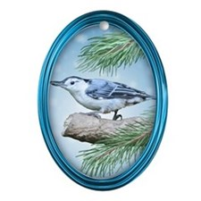 Nuthatch Oval Ornament