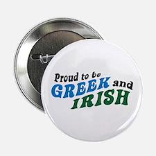 "Proud Greek and Irish 2.25"" Button"