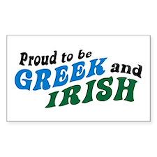 Proud Greek and Irish Rectangle Decal