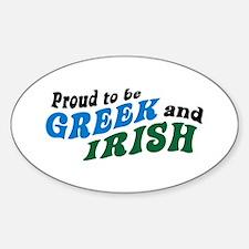 Proud Greek and Irish Oval Decal