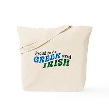 Proud Greek and Irish Tote Bag