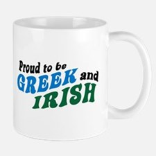 Proud Greek and Irish Mug
