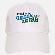 Proud Greek and Irish Baseball Baseball Cap