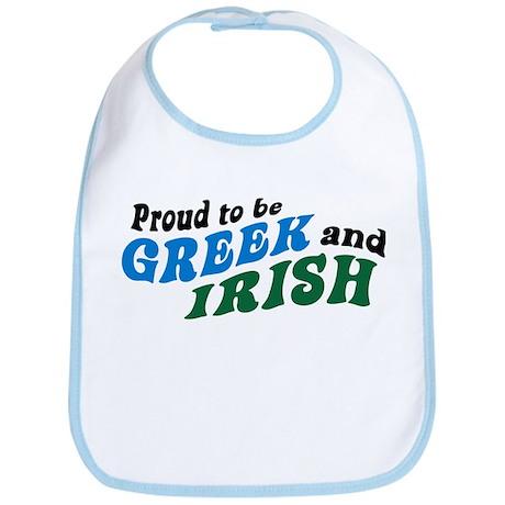 Proud Greek and Irish Bib