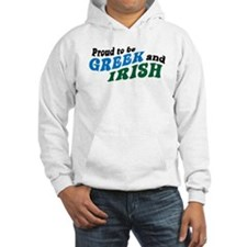 Proud Greek and Irish Hoodie