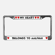 My Heart: Aaliyah (#004) License Plate Frame