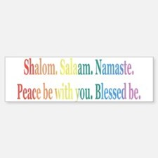 Queer Interfaith Blessing Bumper Bumper Bumper Sticker