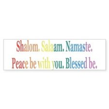 Queer Interfaith Blessing Bumper Car Sticker