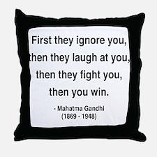 Gandhi 5 Throw Pillow
