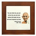 Gandhi 6 Framed Tile
