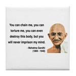 Gandhi 6 Tile Coaster