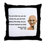 Gandhi 6 Throw Pillow