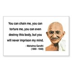 Gandhi 6 Rectangle Sticker