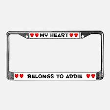 My Heart: Addie (#004) License Plate Frame