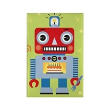 Rectangle Green Robot Magnet
