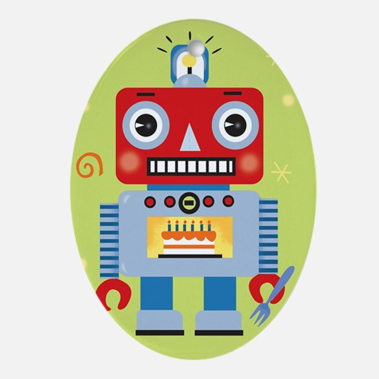 Retro Robot Ornament