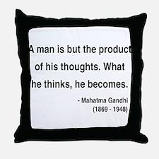 Gandhi 7 Throw Pillow