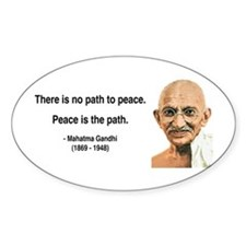 Gandhi 8 Oval Decal