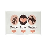 Peace Love Cowboy Rodeo Horse Rectangle Magnet (10