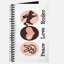 Peace Love Cowboy Rodeo Horse Journal