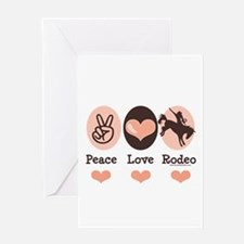 Peace Love Cowboy Rodeo Horse Greeting Card