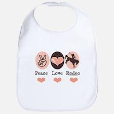 Peace Love Cowboy Rodeo Horse Bib