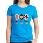 Peace Love Cowboy Rodeo Horse Women's Dark T-Shirt