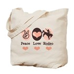 Peace Love Cowboy Rodeo Horse Tote Bag