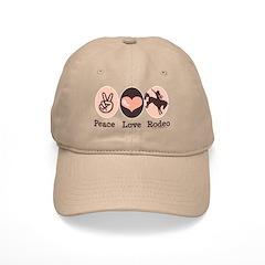 Peace Love Cowboy Rodeo Horse Baseball Cap