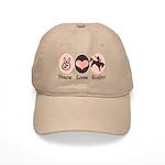 Peace Love Cowboy Rodeo Horse Cap